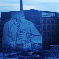 Pt.2 left side: a pantagruelic piece of art by #Blu in #Kreuzberg , #Berlin #XBerg #streetart #instagram