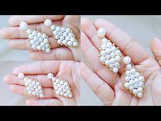 How To Make Pearl Dangle Earrings||Making Of Pearl Earrings At Home..! - YouTube