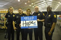 Tampa Police Department with Chief Janet at Heroes Day at the Tent #BeHope #MetroElf