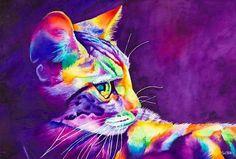 Watercolor Reminds me of lisa frank haha