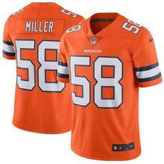 Von Miller Denver Broncos Nike Vapor Untouchable Color Rush Limited Player Jersey - Orange - $149.99