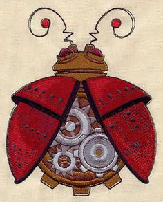 Steampunk Ladybug design (UTH4893) from UrbanThreads.com ...