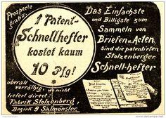 Original-Werbung/ Anzeige 1898 - PATENT SCHNELLHEFTER STOLZENBERG - SALMÜNSTER…