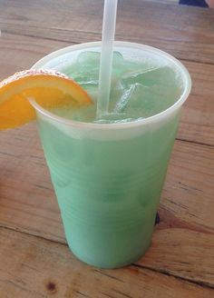 Tipsy Turtle: Rum, Blue Curaçao, pineapple juice, splash of pina colada