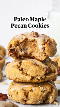 Sugar Free Desserts, Paleo Dessert, Healthy Desserts, Dessert Bars, Dessert Recipes, Healthy Cookie Recipes, Healthy Foods, Paleo Baking, Gluten Free Baking