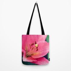 #photography #lily #pink #flowers #floral #girly #pretty #nature available in different #homedecor products. Check more at society6.com/julianarw #totebag