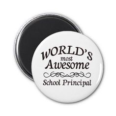 Worlds Most Awesome School Principal Refrigerator Magnet x2