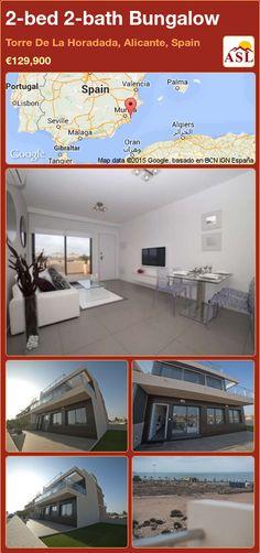 2-bed 2-bath Bungalow in Torre De La Horadada, Alicante, Spain ►€129,900 #PropertyForSaleInSpain