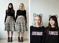 Yara Michels + Kim van Noord twin looks by Liselotte Fleur
