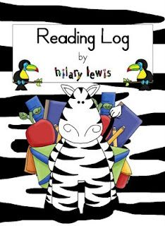 Reading log for your kiddos with sentence starters free