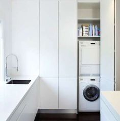 Bauhaus look utility room by Art of Kitchens Pty Ltd Bauhaus-Look Hauswirtschaftsraum by Art of Kitchens Pty Ltd - Own Kitchen Pantry Laundry Cupboard, Utility Cupboard, Laundry Closet, Laundry In Bathroom, Laundry Room Storage, Kitchen Storage, Laundry Area, Diy Kitchen, Hall Cupboard
