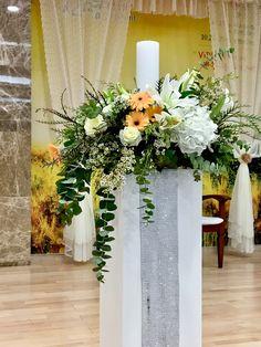 Altar Flowers, Church Flower Arrangements, Church Flowers, Floral Arrangements, Bridal Shower Flowers, Wedding Table Flowers, Floral Wedding, Church Wedding Decorations, Altar Decorations