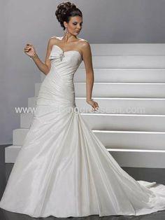 trompette sweetheart train chapelle Taffeta Robe de mariée - €128.38 : WeddingDressesFR.com, Acheter des robes de mariée, robes de mariée, r...