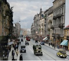 Beautiful Buildings, Warsaw, Poland, Nostalgia, Street View, Black And White, Landscape, City, Postcards