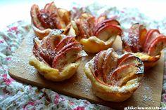 Flammkuchen als Apfelküchlein von glückszauber