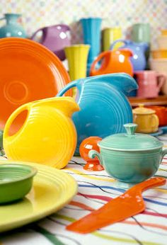 Fiesta ware. I love all the colors, but have the pastels.