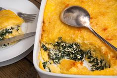 Sounds like an easy make-ahead dinner to me ... Perfect for Monday ... Polenta al Forno With Spinach, Ricotta and Fontina