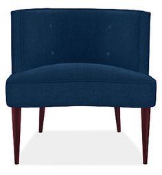 room&board > chloe chair in indigo