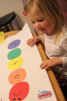Toddler Approved!: Rainbow Caterpillars {Name Matching Activity}.
