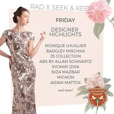 We're back with a bang for our second Seek and Keep! Catch these designers we'll be showcasing on March 20th! We'll be at BSC from 10AM-9PM so drop by, say hello and try on all our dresses!