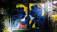 Nike partners with artist Kaws to create bold and beautiful New York basketball courts | Architecture and design news from CLAD