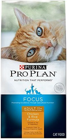 Purina Pro Plan Dry Cat Food Focus Adult 11 Plus Chicken  Rice Formula 7Pound Bag Pack of 1 ** Click image to review more details.
