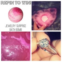 Repin to win contest from glowcultcosmetics.com 😍💕🔥 Win a jewelry surprise bath bomb!! Just repin this pin to as many boards as you like, each pin will count as 1 entry. 🎉🎉🎉 Be Your Own Kind Of Beautiful, Beautiful Wife, Pink Out, Pretty In Pink, Beauty Hacks For Face, Women's Jewelry, Jewellery, Bath Bombs With Rings, Fashion Tips For Women