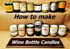 DIY Wine Bottle Candles.There are many interesting wine bottle crafts that you could make out of empty bottles you have accumulated. DIY Wine Bottle Candles These bottles are made of strong materi…