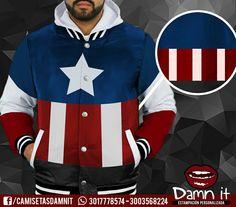Chaqueta Capitán América   Http://www.facebook.com/camisetasdamnit