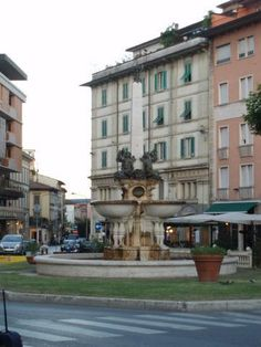 Montecatini, Italy  My hotel window overlooked this fountain!!
