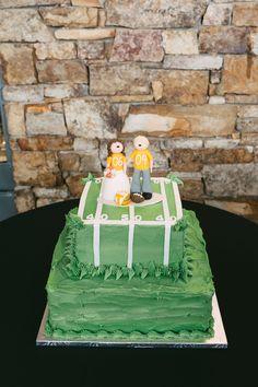 Handmade cake topper representing bride and groom. #memphis wedding #handmade #personalized #kellyginnphotography