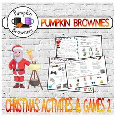 Christmas time is here!!! *** this product is incomplete: 2 more worksheets based on video will be soon included*** Most pages come in color and black and white versions. Tips: fonts are quite big, to save ink and be eco-friendly, print two pages on a A4 paper
