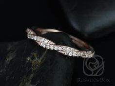 14kt Rose Gold Matching Band to Twyla Diamond ALMOST Eternity Band (Other metals options available) by RosadosBox on Etsy https://www.etsy.com/listing/209269536/14kt-rose-gold-matching-band-to-twyla