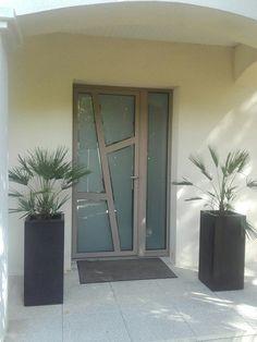Door Gate Design, Main Door Design, Glass Front Door, Glass Door, Fromt Doors, Frosted Glass Design, Modern Exterior Doors, Contemporary Front Doors, Model House Plan