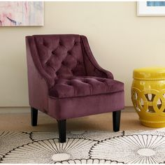Purple Living Room Chairs: Create an inviting atmosphere with new living room chairs. Decorate your living space with styles ranging from overstuffed recliners to wing-back chairs. Free Shipping on orders over $45!