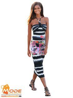 Bustierkleid im attraktiven schwarz weißen Streifendessin mit pastelligem Blumendruck An der Büste gerafft für e... #BAUR #AlbaModa #Rabatt #20 #Marke #Alba #Moda #Farbe #schwarz #Material #Elasthan #Viskose #Muster #Streifen #Onlineshop #BAUR #Damen #Bekleidung #Damenmode #Kleider #Sale #Sommerkleider | sportliche Outfits, Sport Outfit | #mode #modeonlinemarkt #mode_online #girlsfashion #womensfashion Alba Moda, Sport Outfit, Mode Online, Blazer, Strapless Dress, Pants, Dresses, Women, Form