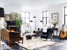 Danish living room/mod+trad mix via Lonny