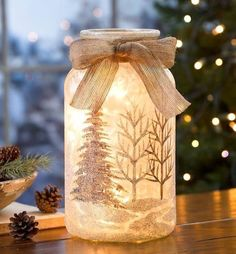 (Gold Candles) - 10 Unique & Creative Candles That Will Light Up Your Life [theendearingdesig. Mason Jar Christmas Crafts, Mason Jar Crafts, Xmas Crafts, Christmas Diy, Primitive Christmas Crafts, Patriotic Crafts, Patriotic Party, Snowman Crafts, Christmas Lights