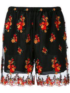 PHILOSOPHY DI LORENZO SERAFINI Embroidered Floral Shorts. #philosophydilorenzoserafini #cloth #shorts