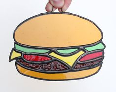Hey, I found this really awesome Etsy listing at https://www.etsy.com/listing/193518468/hamburger-stained-glass-sun-catcher