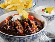 no - Finn noe godt å spise Mexican Food Recipes, Beef Recipes, Cooking Recipes, Ethnic Recipes, Tex Mex, Pot Roast, Stew, Main Dishes, Snacks
