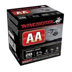 """Winchester ¾ oz. 28 Gauge 2 ¾"""" AA Shotgun ammunition is recognized as one of the best target shotshells ever made."""