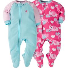 Wrap sweet baby girl in cozy warmth with this 2-pack of girls  micro 8cfe907d2