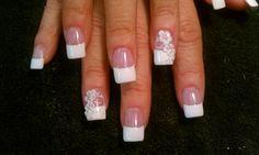 Simple 3d wedding nails