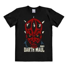 Camiseta Darth Maul - Camiseta La Guerra de las Galaxias - Star Wars - Camiseta con cuello redondo de LOGOSHIRT - Negro - Diseño original con licencia, talla L #camiseta #friki #moda #regalo