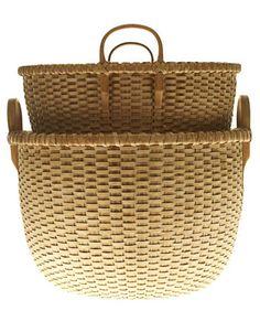 Decorative Storage Baskets - Wicker and Woven Decorative Baskets - House Beautiful Old Baskets, Wicker Baskets, Woven Baskets, Decorative Baskets, Picnic Baskets, Vintage Baskets, Decorative Storage, Sisal, Rattan