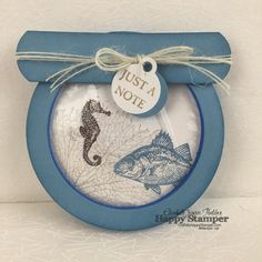 Stampin Up, 3D, fish bowl, picture perfect, by the tide, curvy keepsake