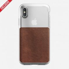 Husa piele iPhone X Nomad, carcasa dura, transparenta - TotalMobil Iphone 8, Iphone Cases, Leather Phone Case, Painting Leather, Mai, Minimalist Fashion, Business, Check, Shop