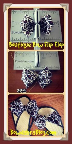 A great summer craft - Decorate flip flops with bows made using Mini Bowdabra
