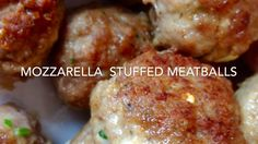 Mozzarella Stuffed Meatballs - YouTube